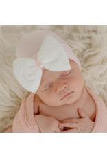 ILYBEAN Ilybean- Lacey Bow Pink Hat Nursery Beanie