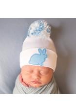 ILYBEAN Ilybean- Blue Bunny Mixed Pom Nursery Beanie