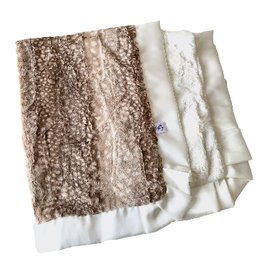Rockin' Royalty Rockin Royalty- Fawn Straight Trim Blanket