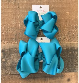 OS - Sapphire Stacked Grosgrain Bow