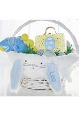 Mudpie Mud Pie - Blue Bunny Ear Wicker Basket