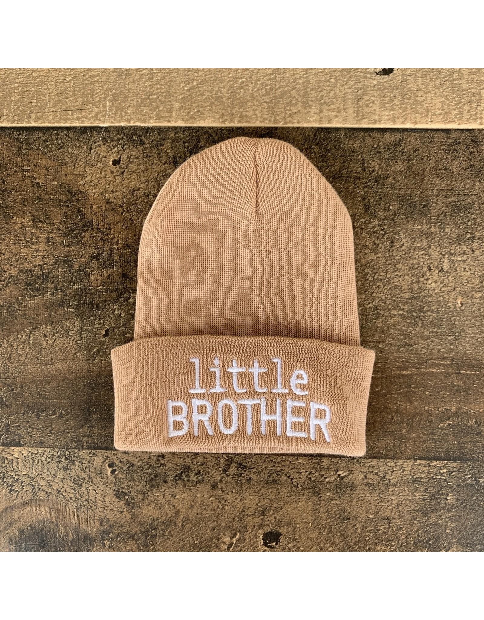 ILYBEAN Ilybean- 'little BROTHER' tan nursery beanie