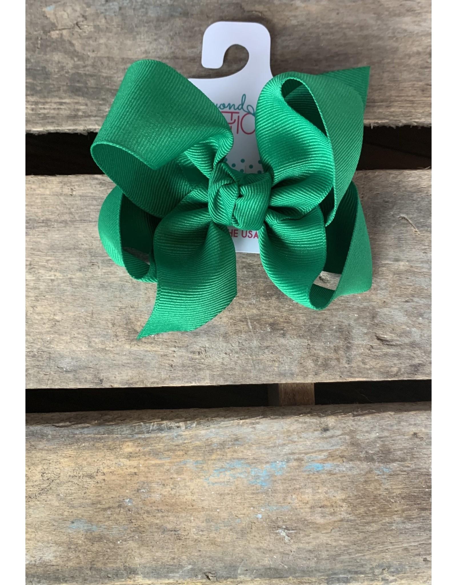 Beyond Creations Beyond Creations- Emerald Grosgrain Knot Bow