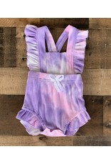 loved by Jade Presley loved by jade presley- Purple Pink Tie Dye Ruffle Romper