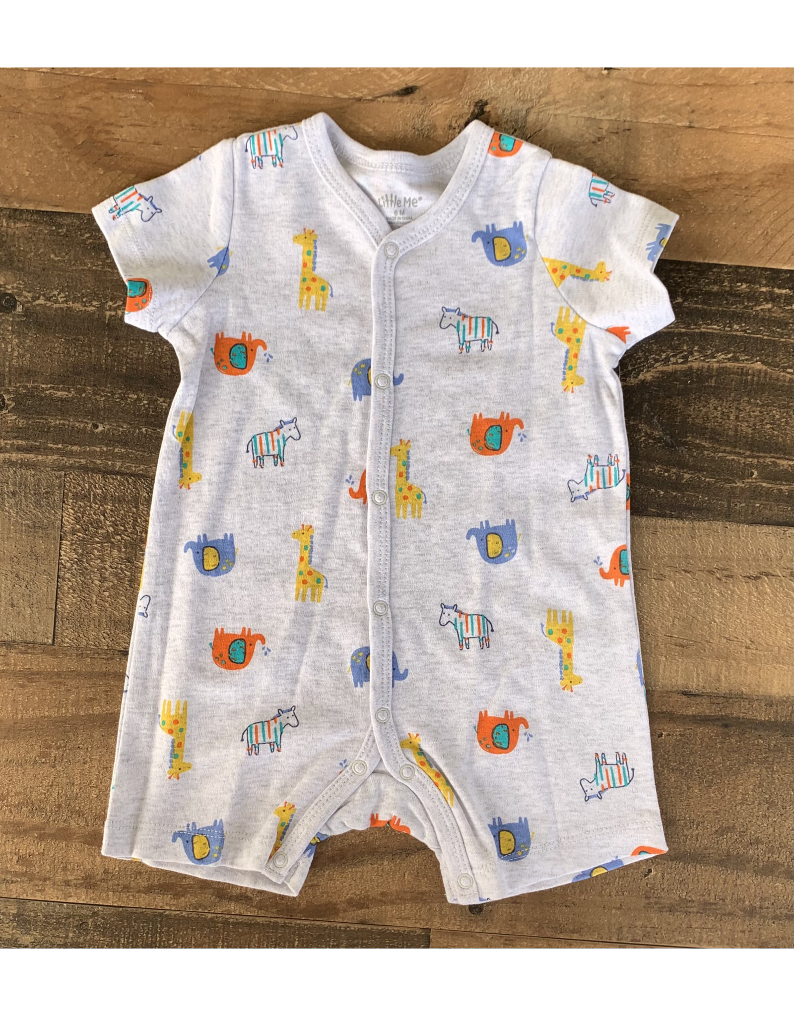 Little Me Little Me- Safari Romper