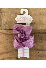 Beyond Creations Beyond Creations - Orchid Glitter Metallic Bow on 1/4 HB
