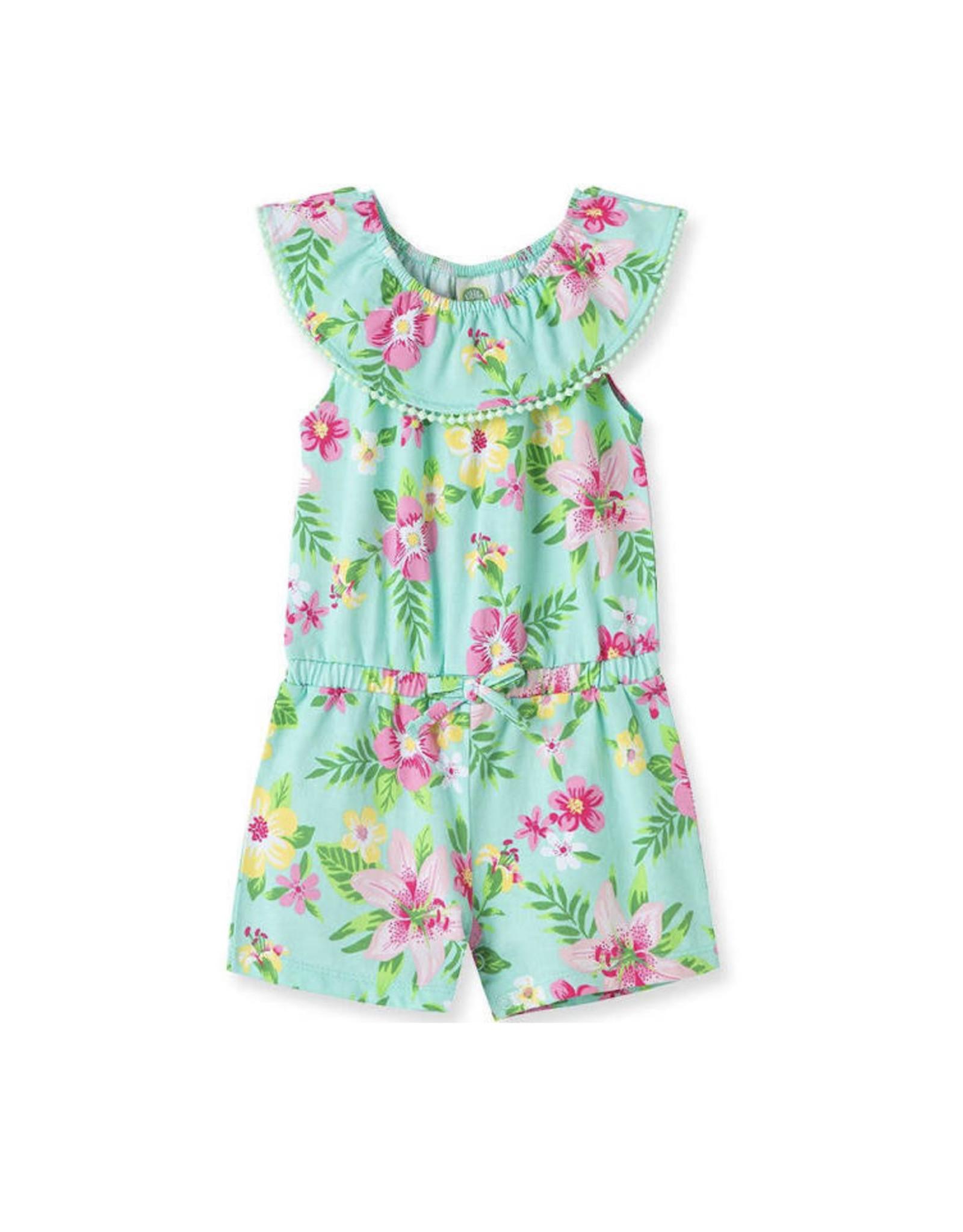 Little Me Little Me- Tropical Knit Romper