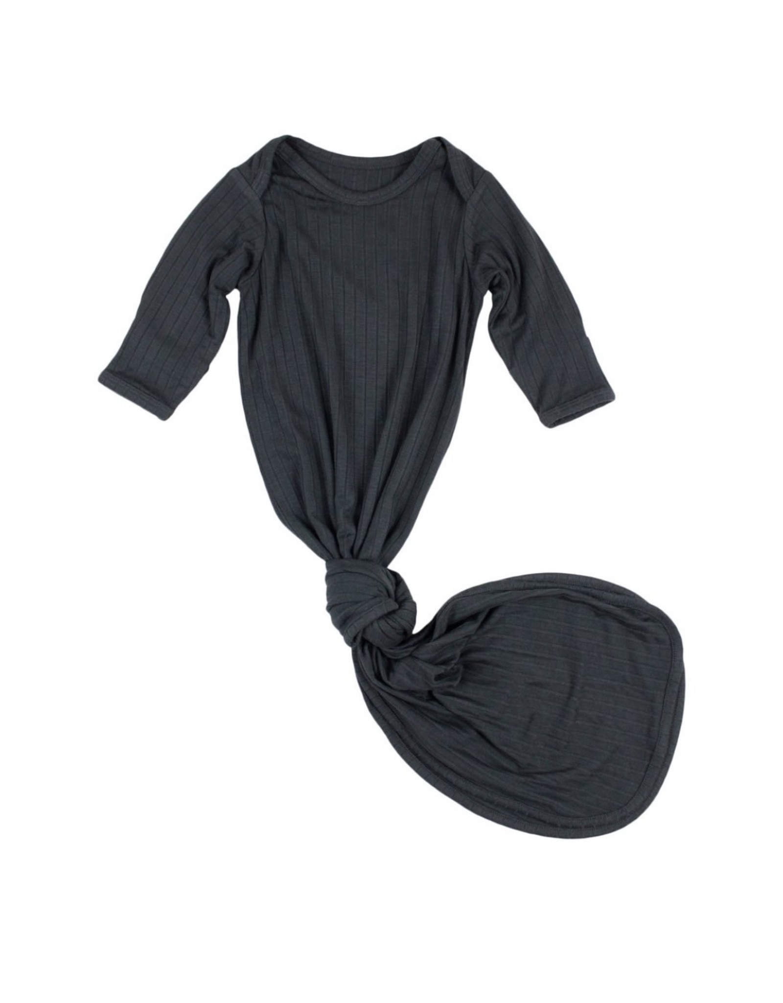 Brave Little Ones Brave Little Ones- Antique Black Ribbed Knotted Gown 0/3M