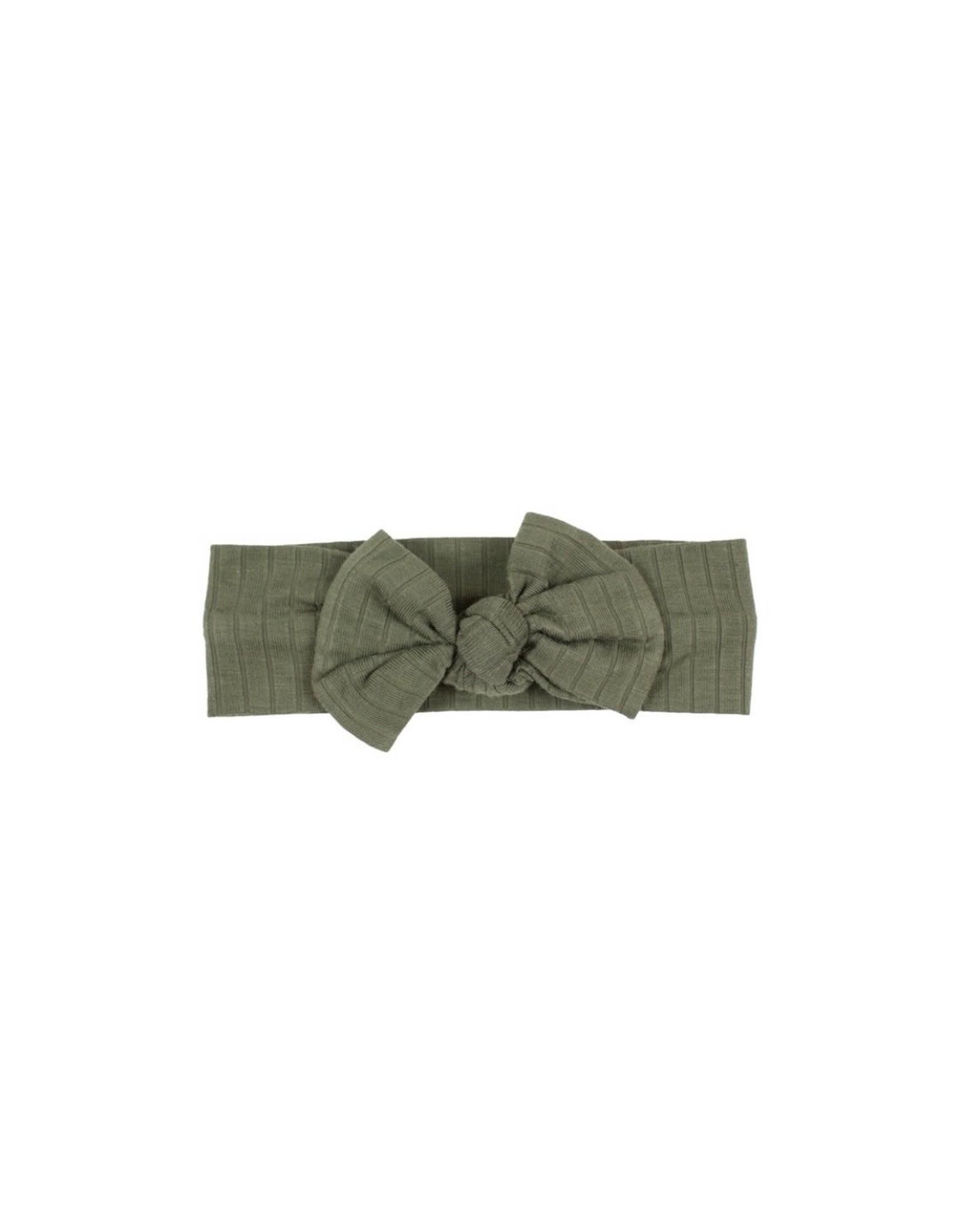 Brave Little Ones Brave Little Ones- Dark Olive Bow Headband
