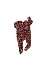 Gigi & Max Gigi & Max - Sienna Leopard Ruffle Newborn Footed Zip & Heaband Set