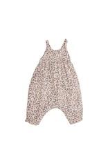 Angel Dear Angel Dear- Leopard Tie Back Romper: Pink