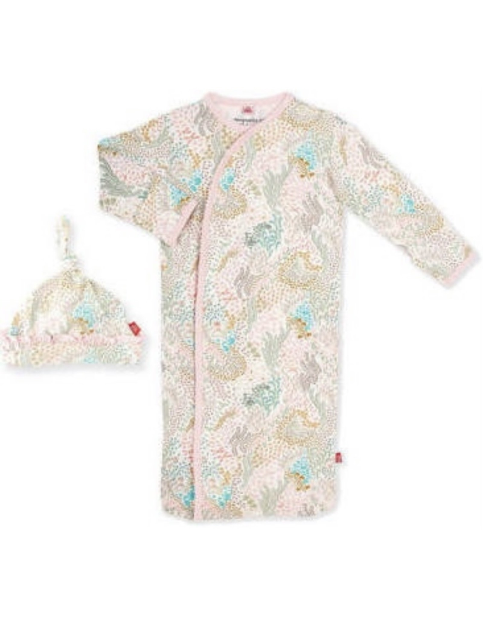Magnetic Me Magnetic Me- Coral Cay Magnetic Gown & Hat Set 0-3M