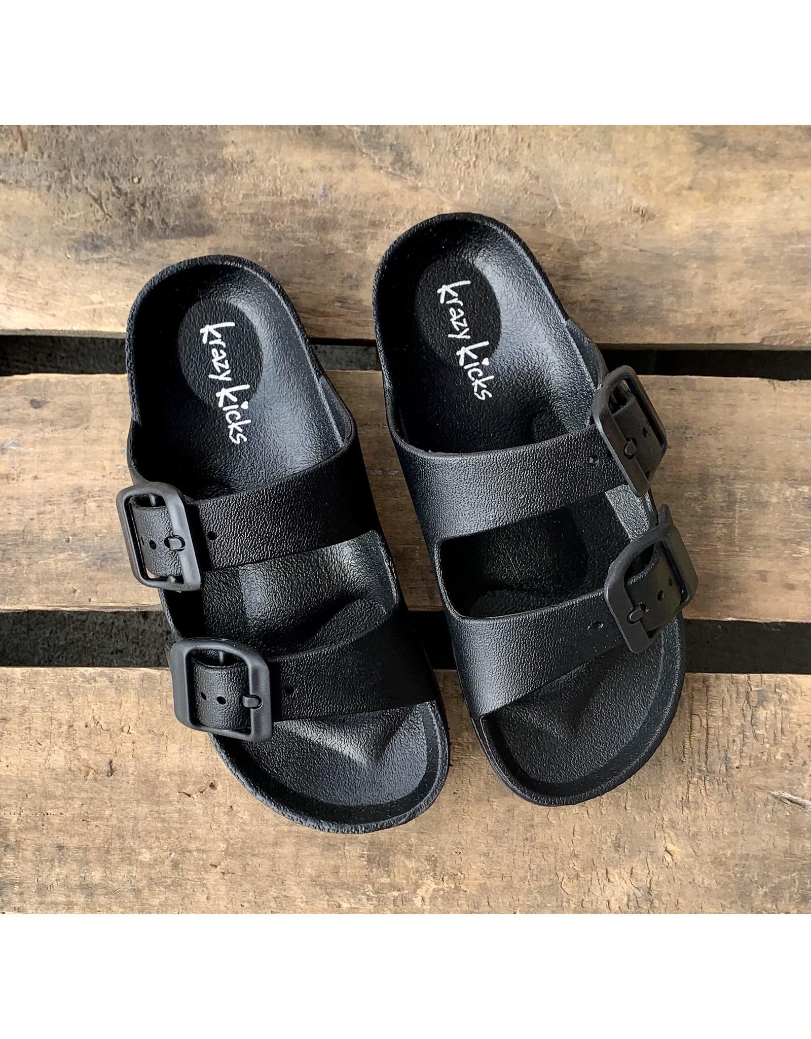 Black Slide Sandal