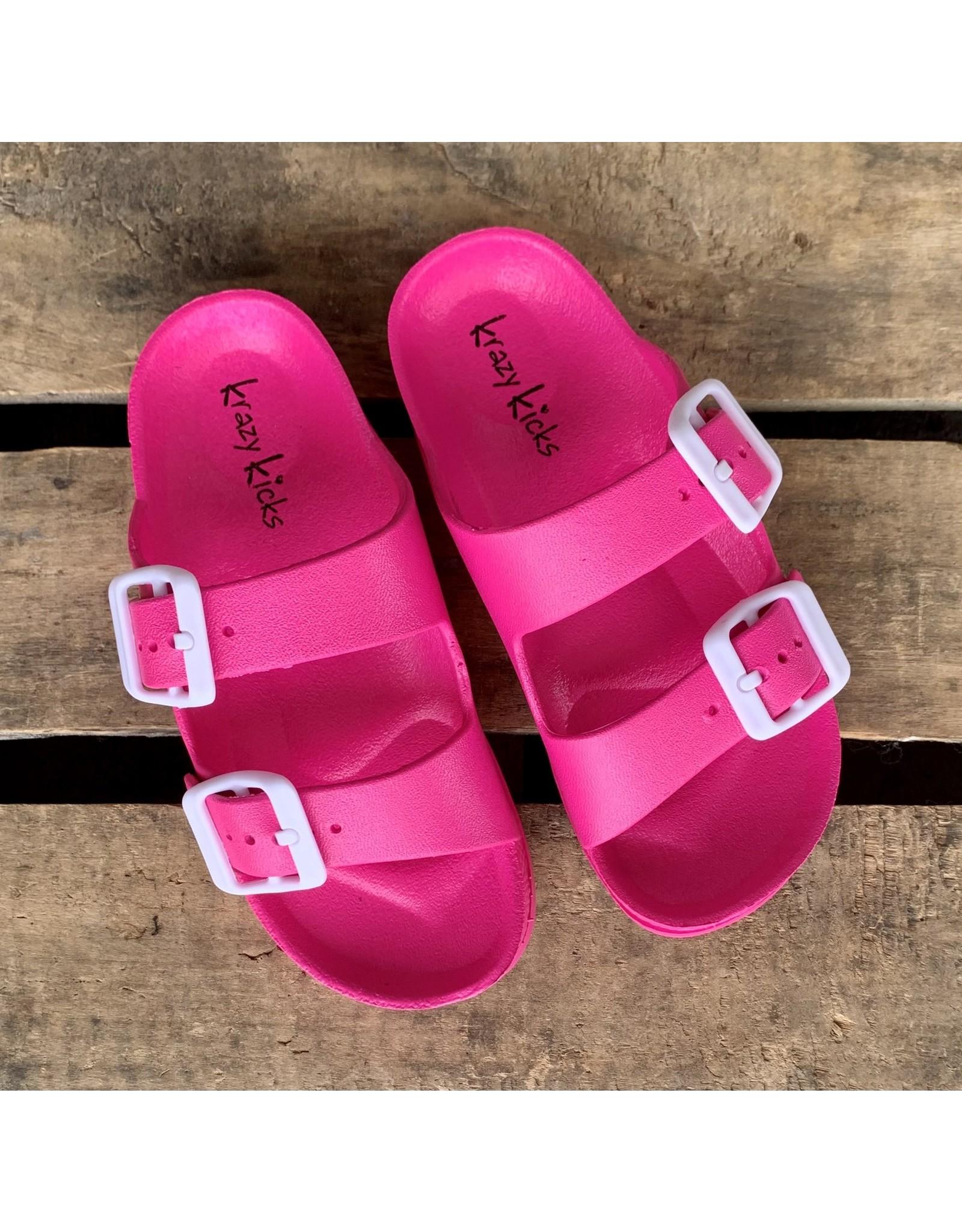 Fuschia Slide Sandal