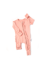 Gigi & Max Gigi & Max- Olivia Light Pink Ruffle Zipper Footie