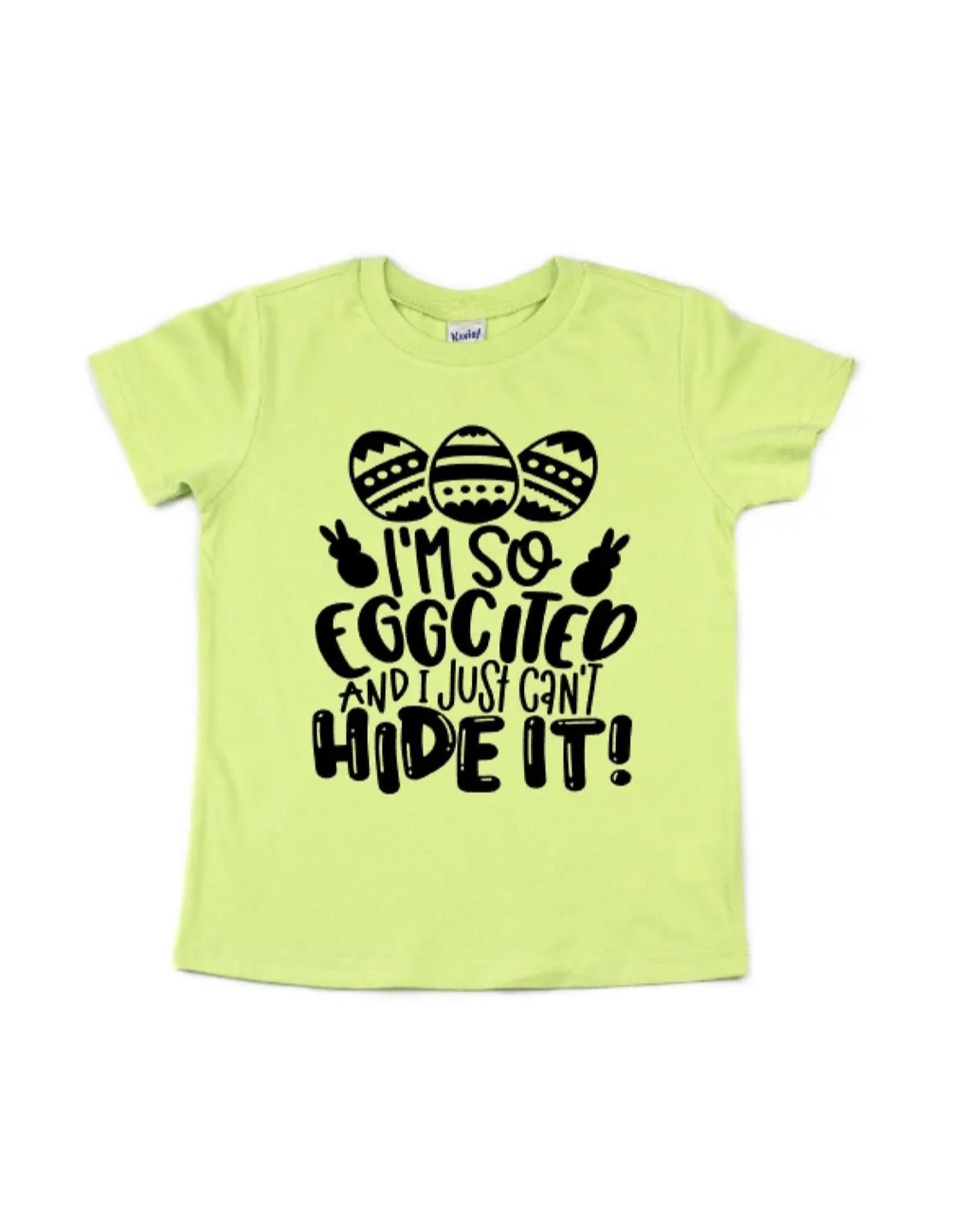 I'm So Eggcited Tee: Lime