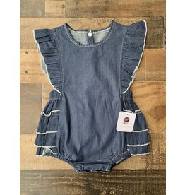 loved by Jade Presley loved by jade presley- Dark Denim Romper