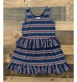 Forever Young Forever Young- Red, White & Blue Stripe Tiered Dress