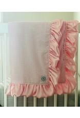 Razzle Baby Razzle Baby- Double Plush Pink Seersucker Blanket