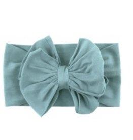 Ruffle Butts Ruffle Butts- Marine Blue Big Bow Headband