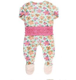 Ruffle Butts Ruffle Butts- Spring Fling Snuggly Ruffled Footed Pajamas