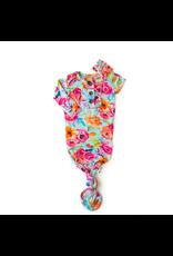 Gigi & Max Gigi & Max - Tessa Teal Floral Knotted Button Gown