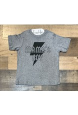 Mama's Boy Shirt: Grey