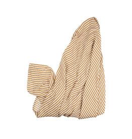 Brave Little Ones Brave Little Ones- Camel Stripe Muslin Swaddle