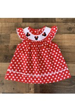 Mouse Smocked Polkadot Dress