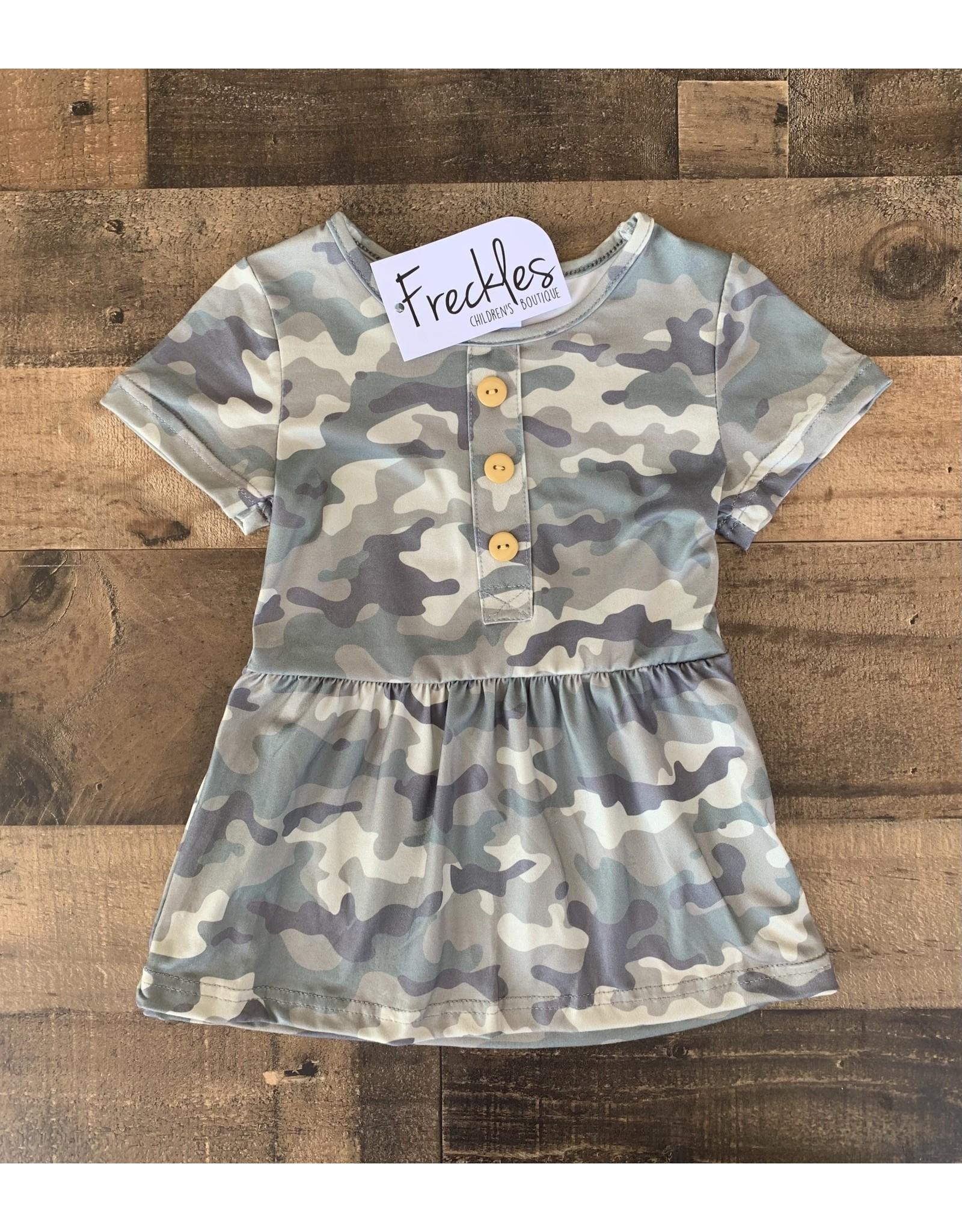 Camo Button Dress