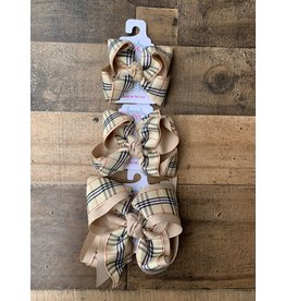 Beyond Creations Beyond Creations- Oatmeal/Oatmeal Burberry Layered Knot Bow