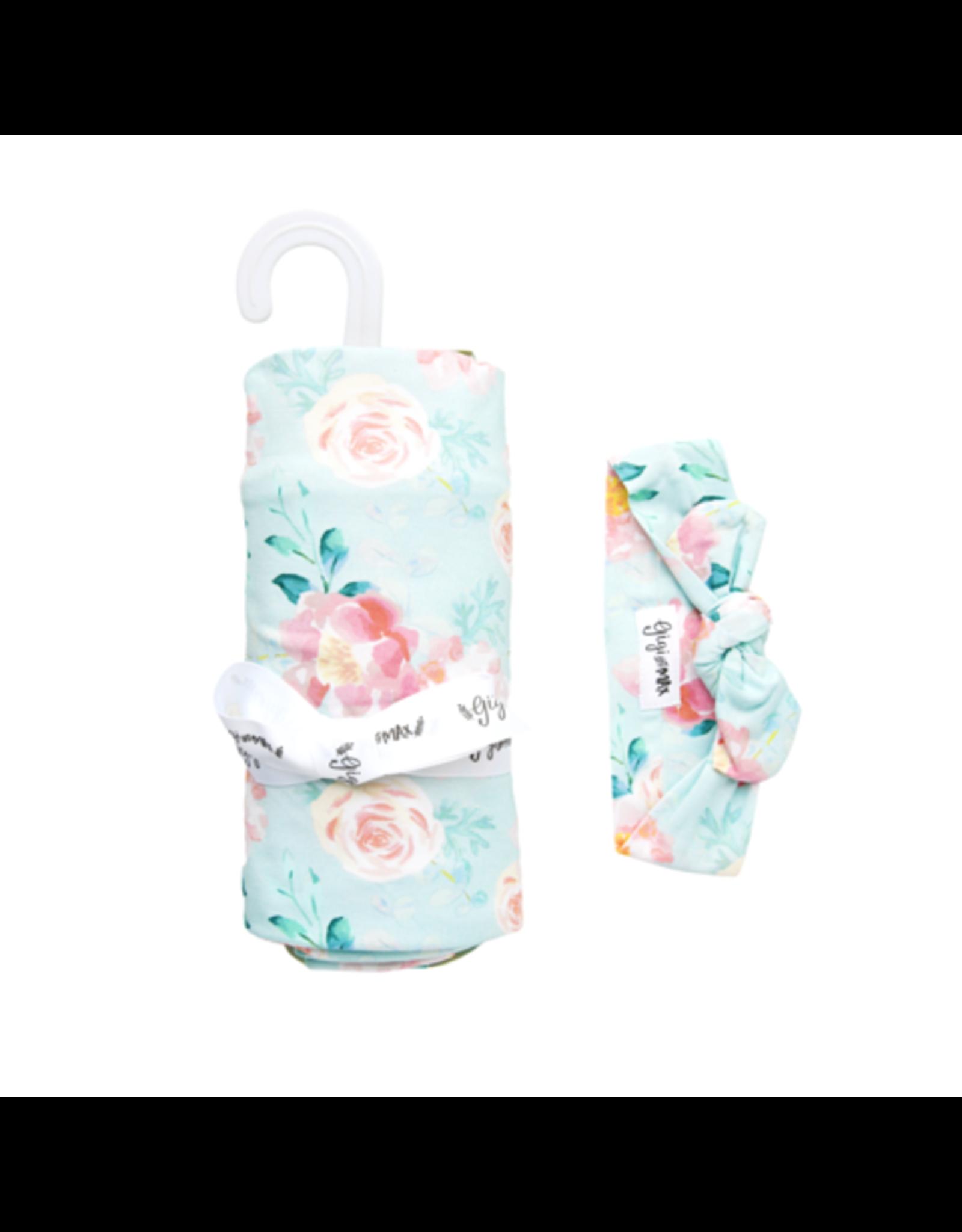 Gigi & Max Gigi & Max- Mae Floral Swaddle & Headband Set