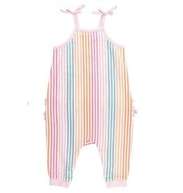 Ruffle Butts Ruffle Butts- Daydream Stripe Full Length Romper