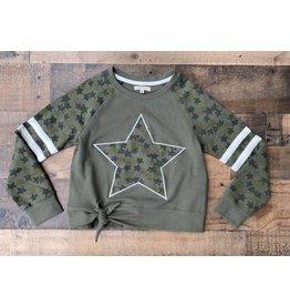 Paper Flowers- Olivine Star Sweatshirt