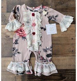 Haute Baby Haute Baby - Cranberry Rose Coverall