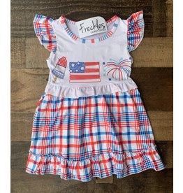 Plaid Patriotic Dress