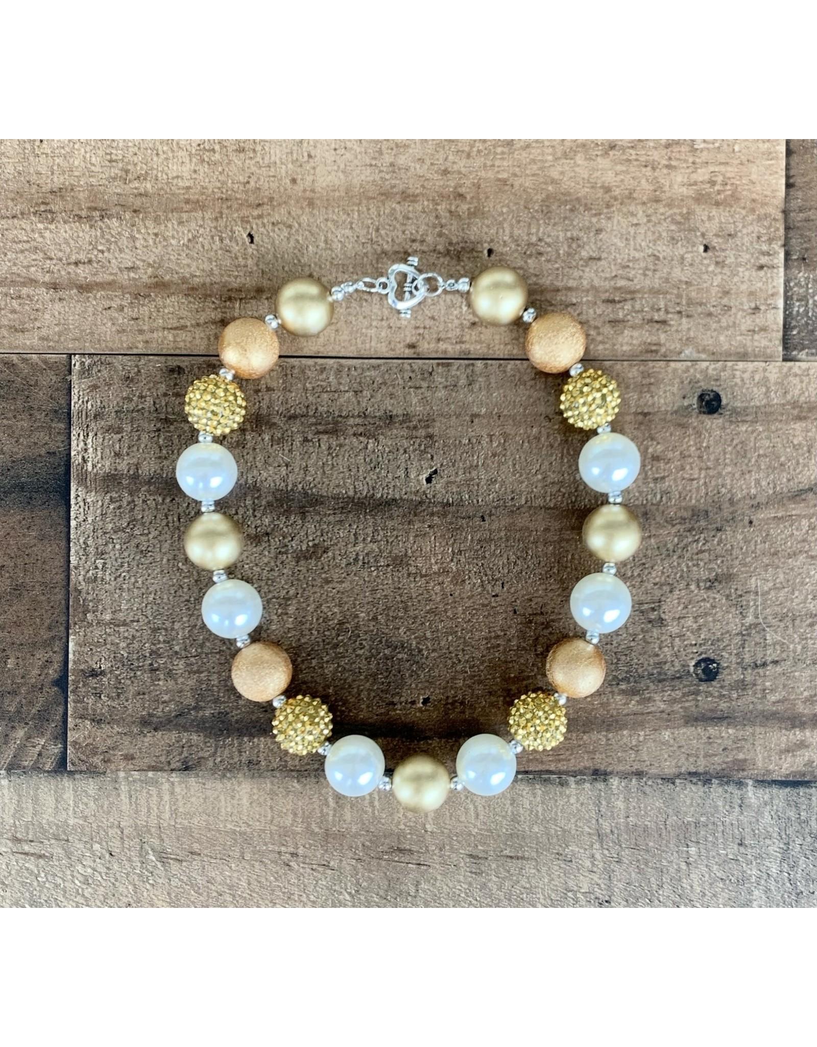 Gold Sparkle Pendant Chunky Necklace