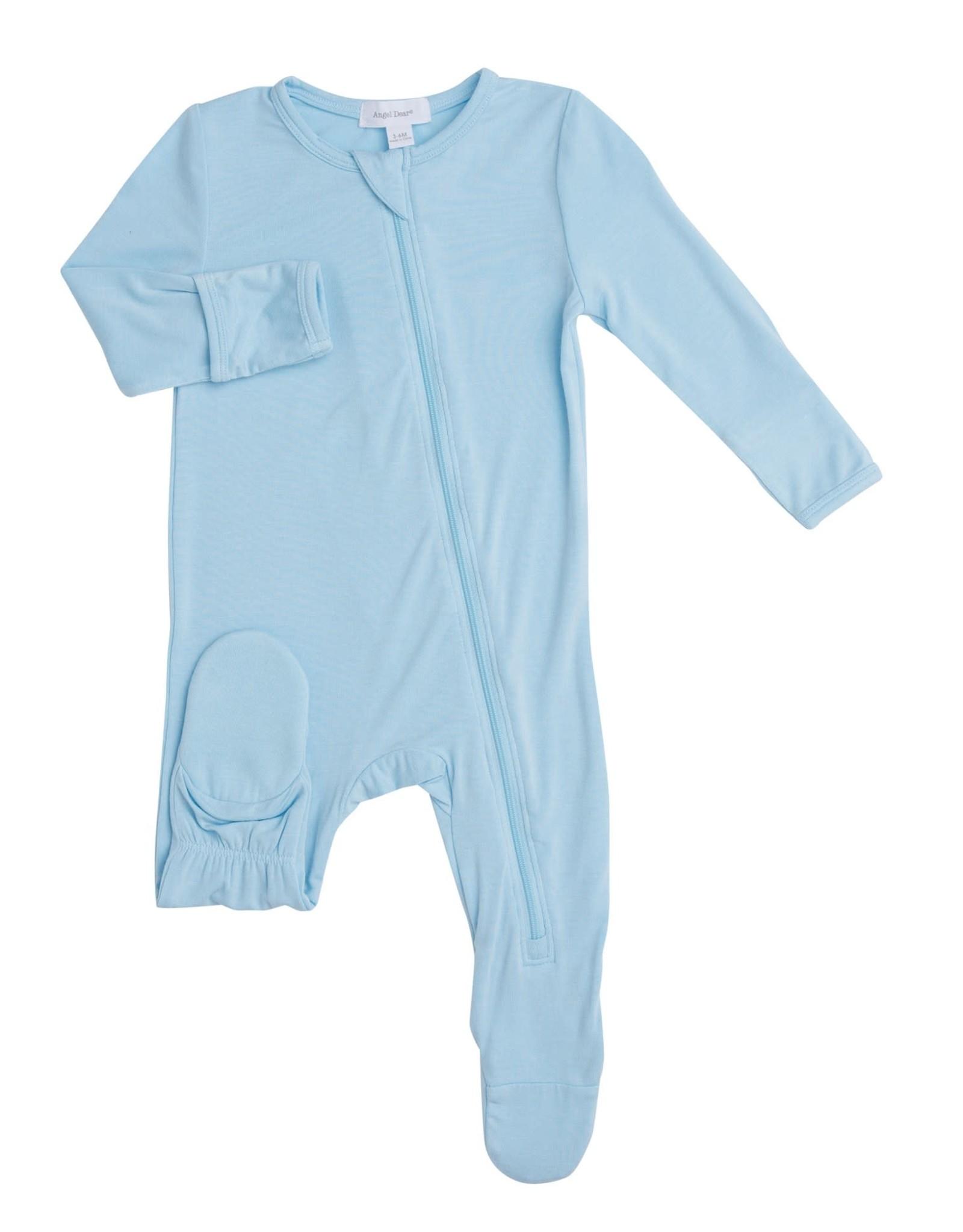 Angel Dear Angel Dear- Modern Basic Blue Zipper Footie Cordyalis