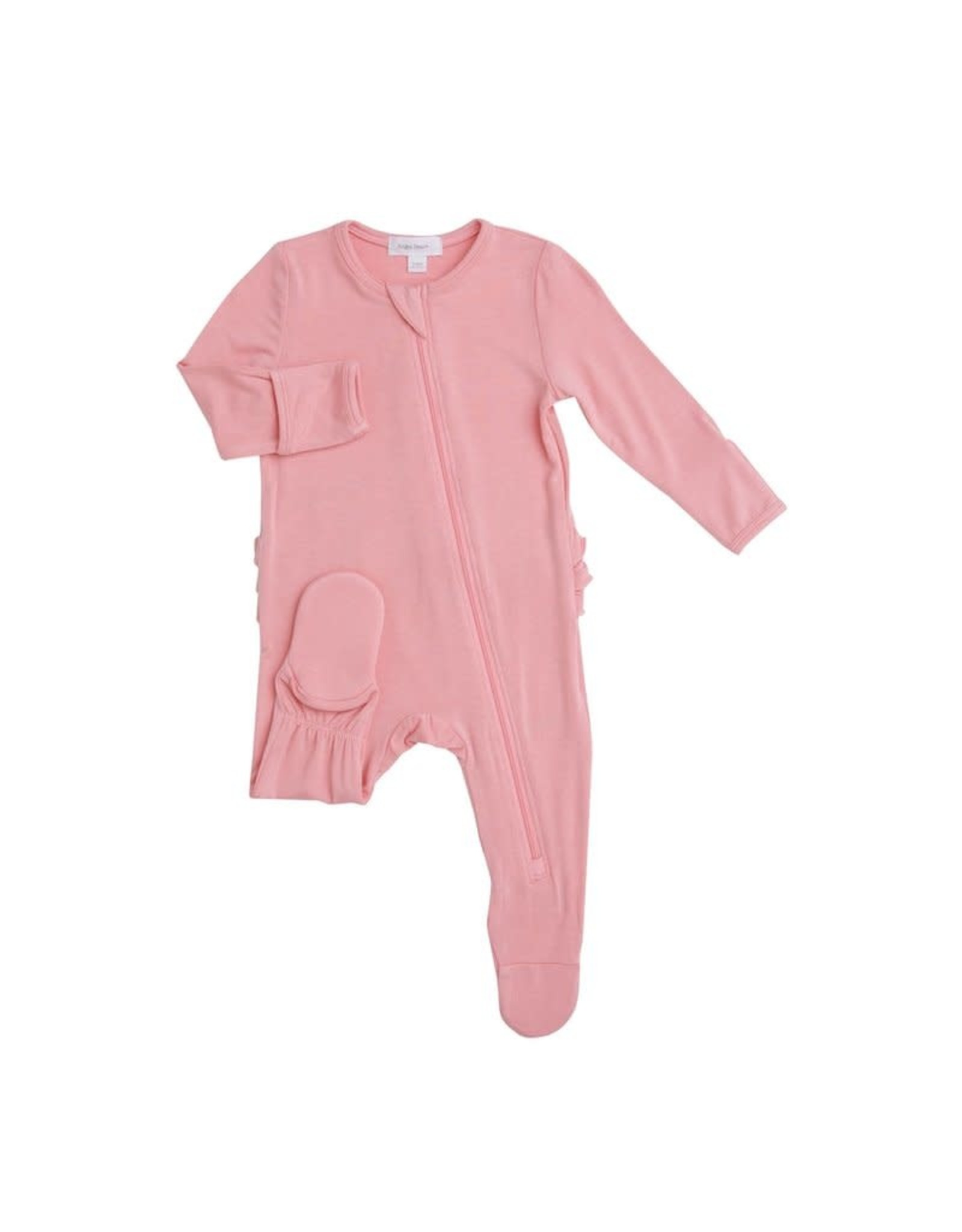 Angel Dear Angel Dear- Modern Basic Zipper Footie Blossom