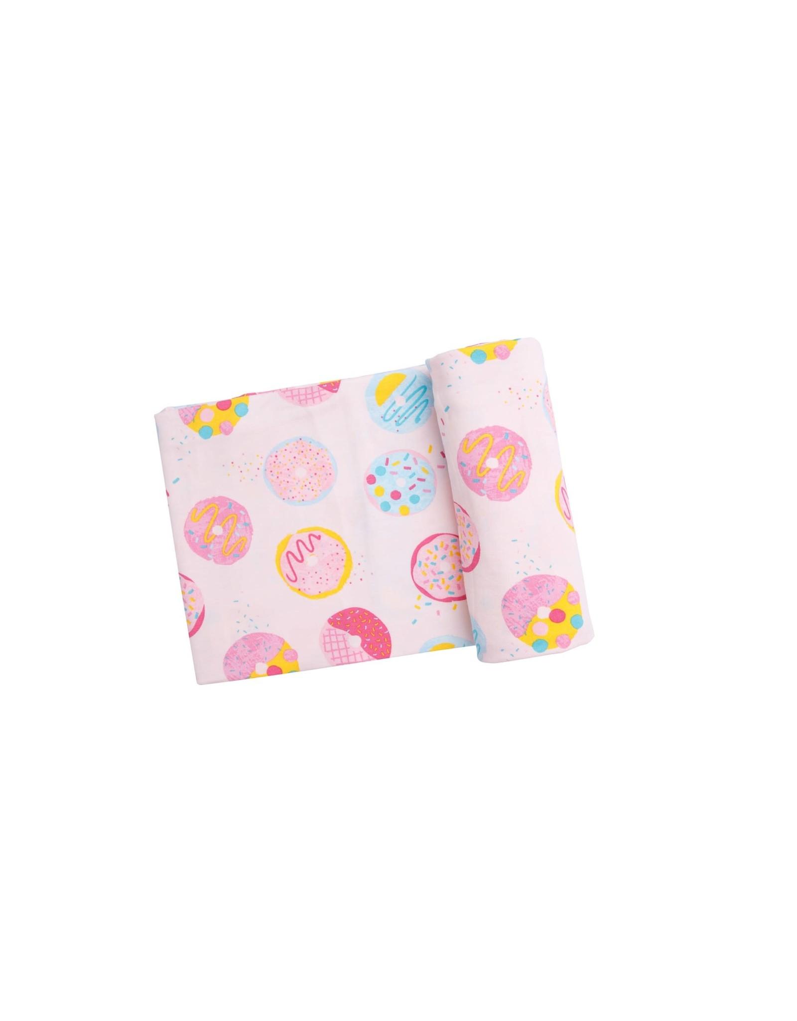 Angel Dear Angel Dear-  Donuts Swaddle Blanket Pink 45X45