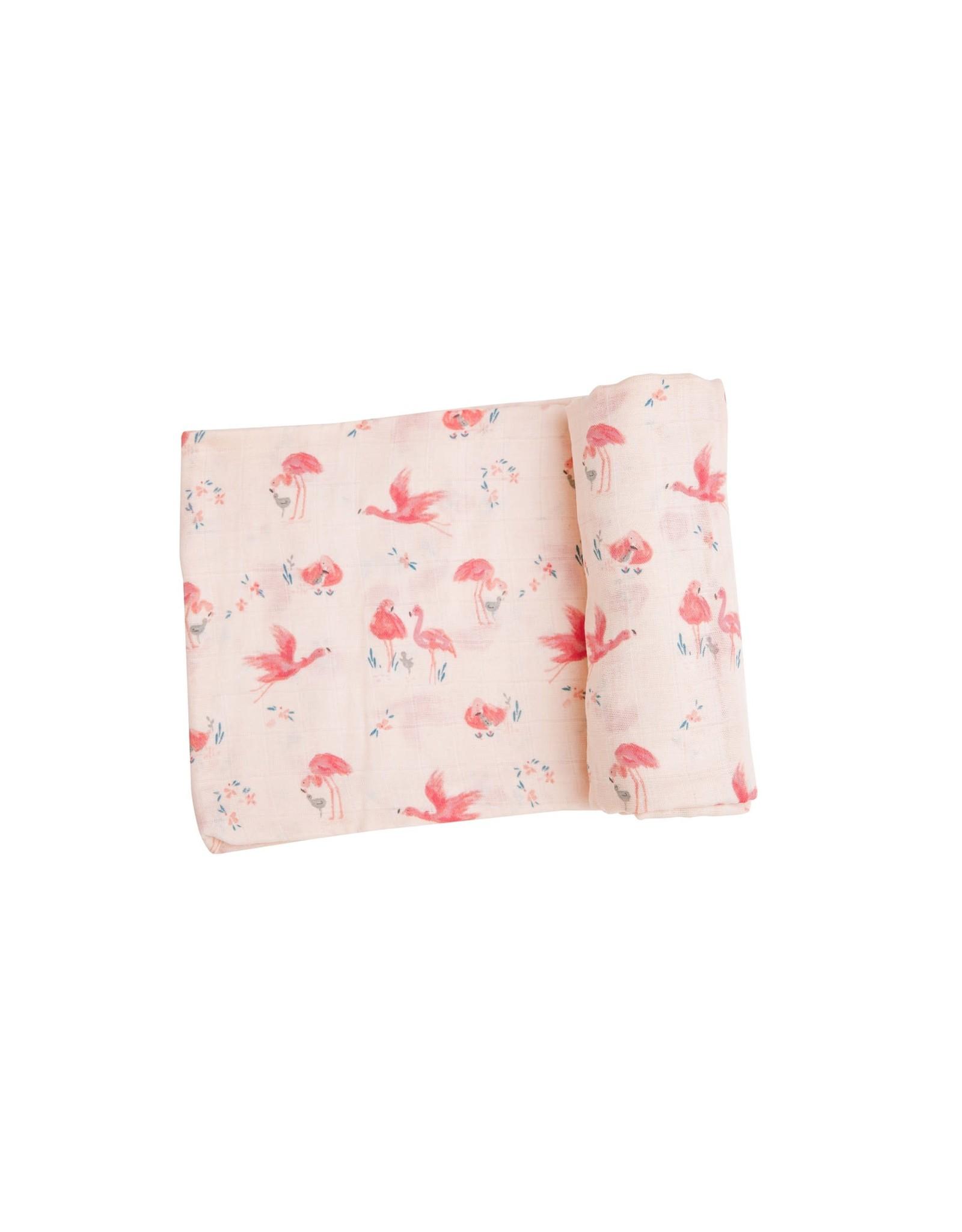 Angel Dear Angel Dear-  Flamingo Swaddle Blanket Pink 47X47