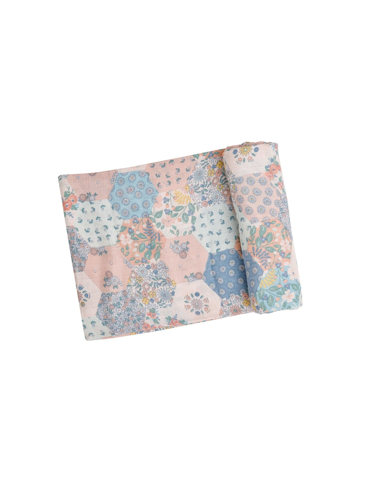 Angel Dear Angel Dear-  Vintage Patchwork Pastel Swaddle Blanket 47X47