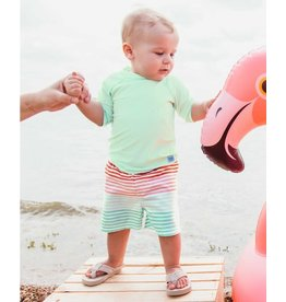Ruffle Butts Ruffle Butts- Little Love Stripe Swim Trunks