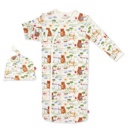 Magnetic Me Magnetic Me- BBQ Bears Modal Magnetic Gown Set (NB-3M)