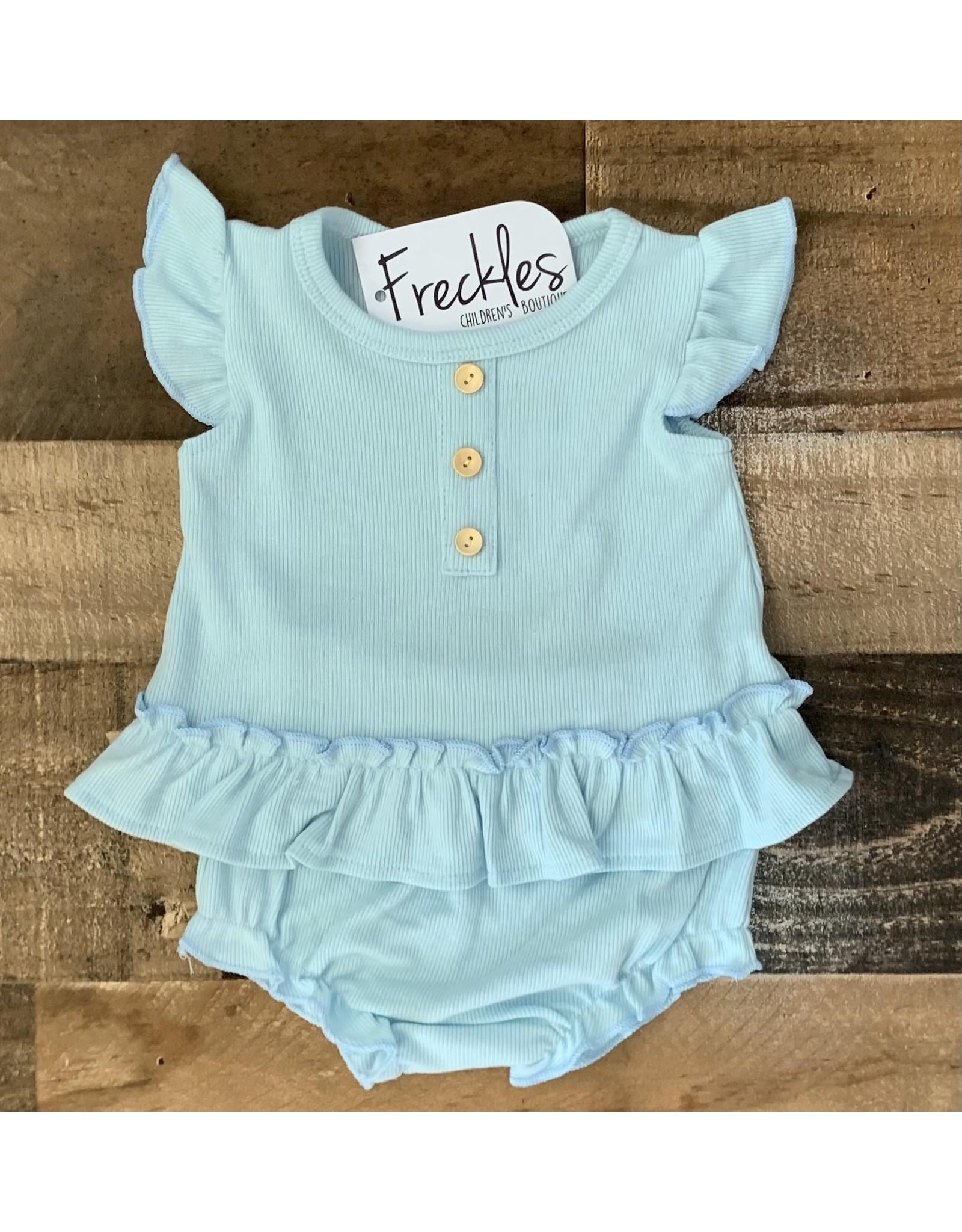 loved by Jade Presley loved by jade presley-Jess Ribbed Button Set: Sky Blue
