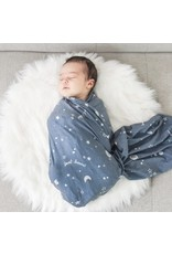 Village Baby Village Baby- Extra Soft Stretchy Knit Swaddle Blanket: Starry Dreams
