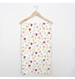 Village Baby Village Baby- Extra Soft Stretchy Knit Swaddle Blanket: Playful Poppies