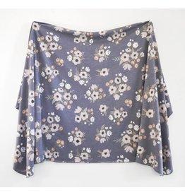 Village Baby Village Baby- Extra Soft Stretchy Knit Swaddle Blanket: Midnight Garden
