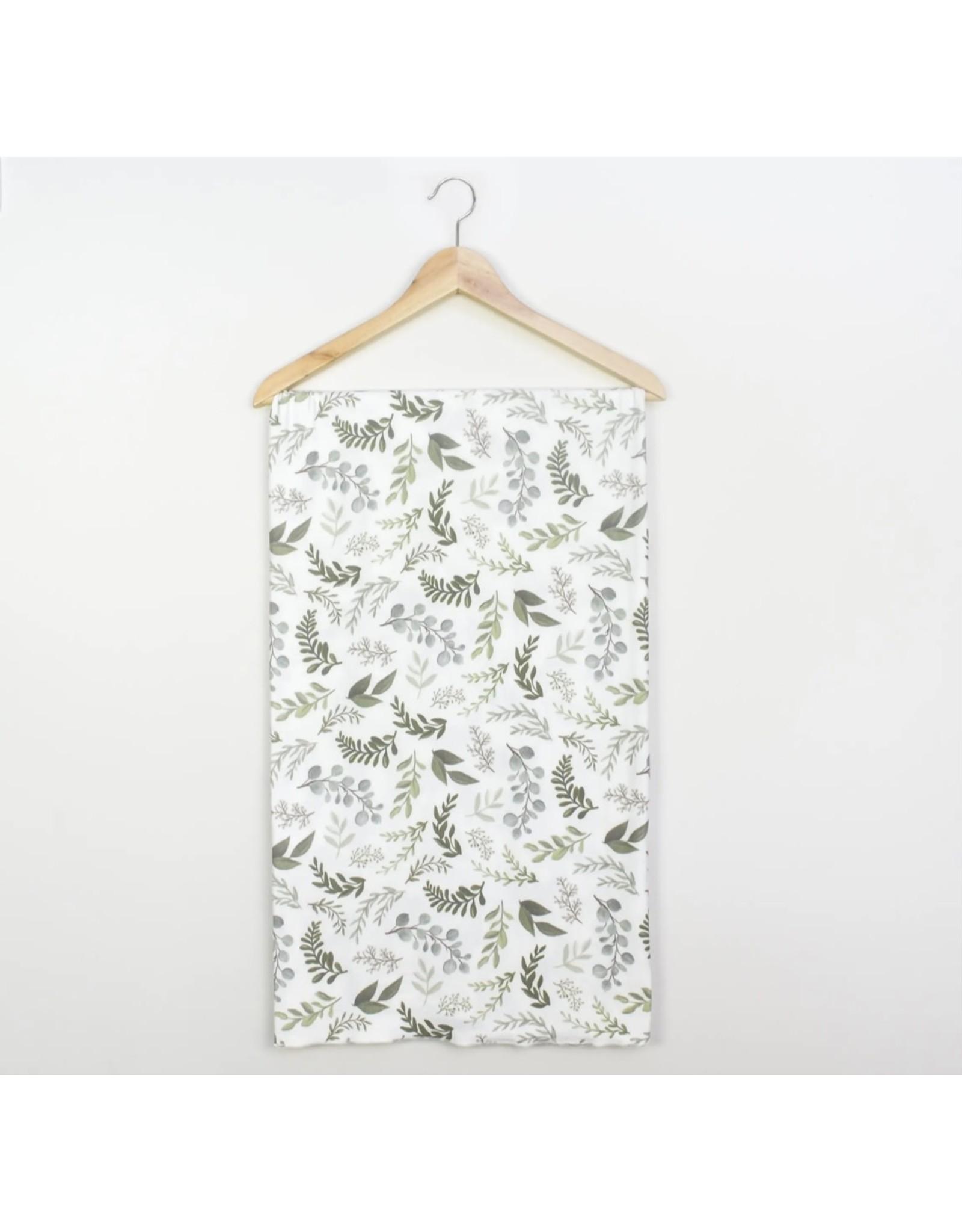 Village Baby Village Baby- Extra Soft Stretchy Knit Swaddle Blanket: Graceful Greenery