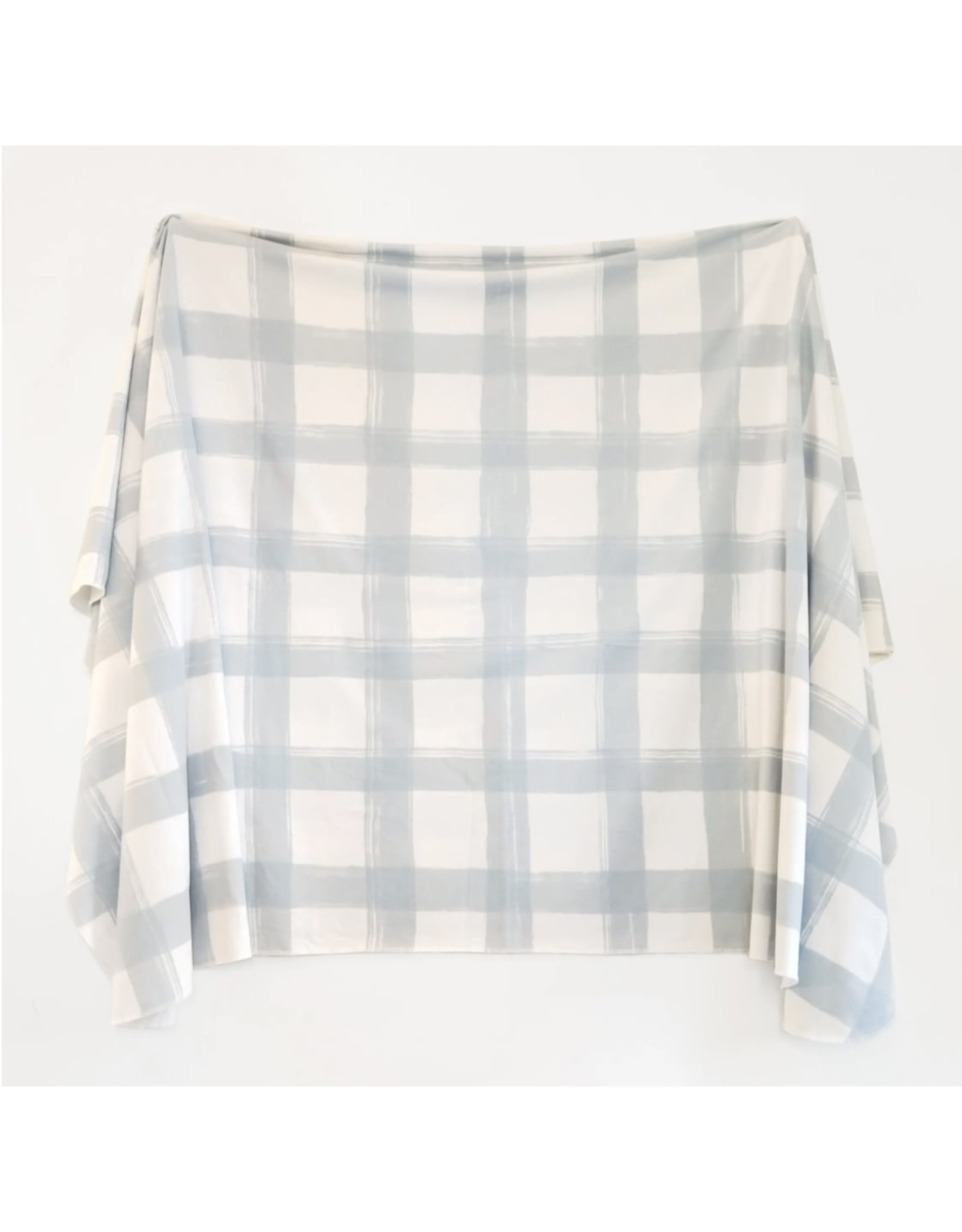 Village Baby Village Baby- Extra Soft Stretchy Knit Swaddle Blanket: French Gingham